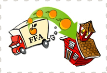 Orange Delivery Icon